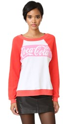 Wildfox Couture Coca Cola Classic Sweatshirt Clean White Marinara