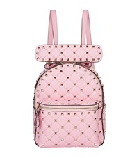 Valentino Garavani Mini Leather Rockstud Backpack Pink