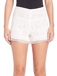 Alexis Lace Eyelet Shorts White