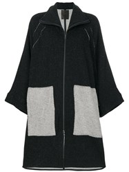 Lost And Found Ria Dunn Zipped Cardi Coat Cotton Alpaca Polyimide S Black