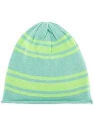 Unconditional Striped Knit Beanie Blue