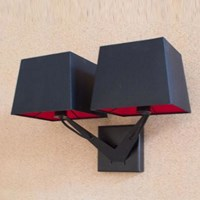 Tango Lighting Memory Two Wall Light Black Brown Gold