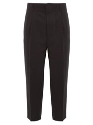 Ami Alexandre Mattiussi Tapered Wool Trousers Black