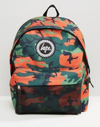 Hype Backpack Camo Green