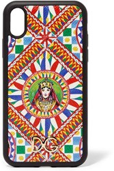 Dolce And Gabbana Printed Textured Leather Iphone Xr Case One Size