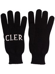 Moncler Logo Wool Gloves Black