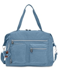 Kipling Carton Satchel Blue Bird Silver
