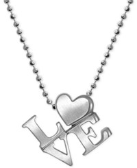 Alex Woo Love Heart Pendant Necklace In Sterling Silver