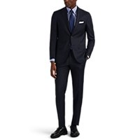 Sartorio Wool Two Button Suit Navy