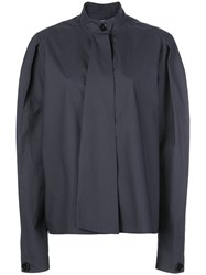 Christophe Lemaire High Neck Boxy Fit Blouse 60
