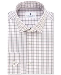 Ryan Seacrest Distinction Men's Slim Fit Non Iron Purple Tattersall Dress Shirt Only At Macy's