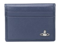 Vivienne Westwood Small Horizontal Card Holder Blue Credit Card Wallet