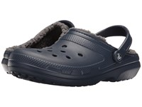 Crocs Classic Lined Clog Navy Charcoal Clog Shoes Blue