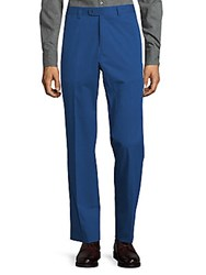 Saks Fifth Avenue Flat Front Trousers Blue