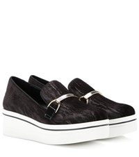 Stella Mccartney Binx Velvet Platform Slip On Sneakers Black