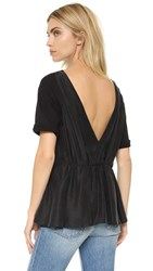 Maison Martin Margiela Low Back Tunic Black Black
