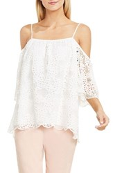 Vince Camuto Women's Off The Shoulder Lace Blouse New Ivory