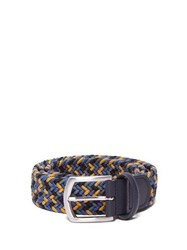 Anderson's Woven Elasticated Belt Blue Multi