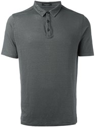Roberto Collina Classic Polo Shirt Grey