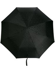 Alexander Mcqueen Crystal Studded Skullw Umbrella Black
