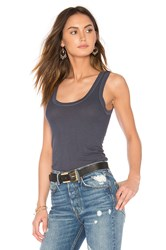 Enza Costa Rib Fitted Tank Blue