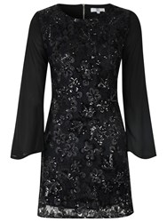 True Decadence Sheer Sleeve Tunic Dress Black