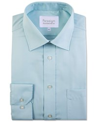 Double Two Men's Paradigm 100 Cotton Non Iron Shirt Duck Egg