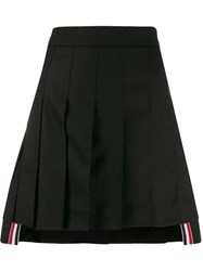 Thom Browne Pleated Mini Skirt Black