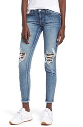 Sp Black Women's Ripped Skinny Jeans Medium Dark Wash