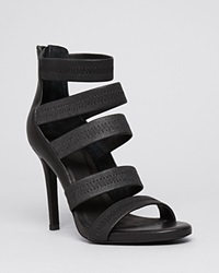 Joie Open Toe Platform Sandals Jana High Heel Black
