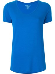 Majestic Filatures V Neck T Shirt Blue