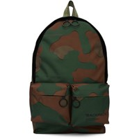 Off White Green Camo Backpack