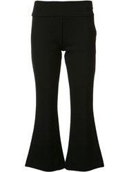 Nicole Miller Flared Cropped Trousers Black