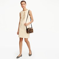 J.Crew Collection Leather Sheath Dress With Ruffles