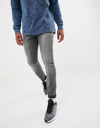 G Star Revend Super Slim Jeans With Abraisons Washed Black Lt Aged Destroy