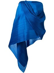 Issey Miyake Pleats Please By Pleated Scarf Blue