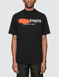 Palm Angels Hong Kong Sprayed Logo T Shirt Black