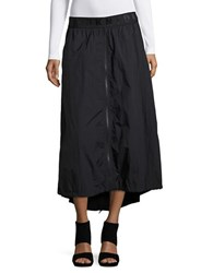 Dkny Hi Lo Windbreaker Skirt Black