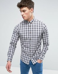 Solid Checked Shirt In Regular Fit 9486 Grey