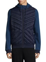 Mpg Rogue Hooded Jacket Navy Sky Blue