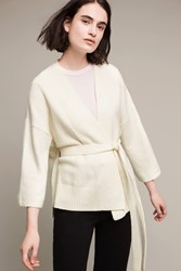 Anthropologie Alcott Belted Cardigan Ivory