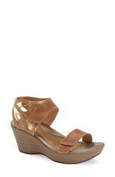 Naot Footwear Women's 'Intrigue' Platform Wedge Latte Brown Leather