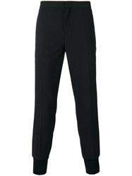 Neil Barrett Tapered Suit Trousers Blue