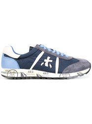 Premiata White Lucy Sneakers Blue
