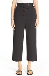 Tibi Women's Double Weave Wide Leg Crop Pants