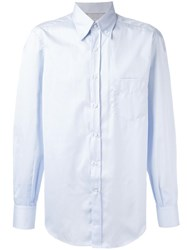 Brunello Cucinelli Button Down Collar Shirt Blue