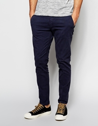Antony Morato Super Skinny Check Trousers Bluemarine