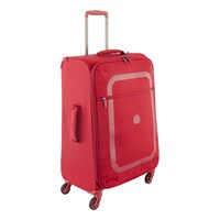 Delsey Dauphine 2 4 Wheel Trolley Case Red