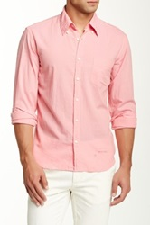 Gant Rugger Selvage Madras Long Sleeve E Z Fit Button Down Shirt Pink