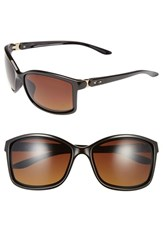 Women's Oakley 'Step Up' 62Mm Polarized Sunglasses Brown Brown Gradient Polar